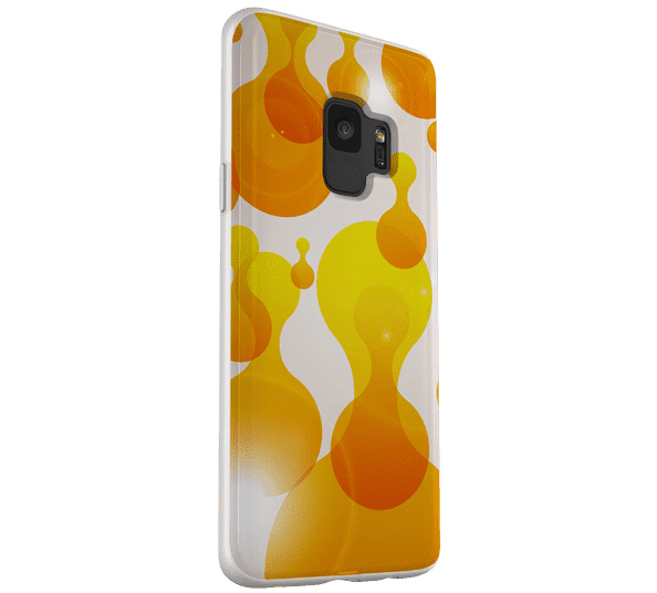 Blobs-Orange-Samsung-Galaxy-S9-Flexi-Case